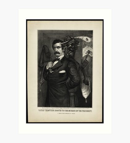 Satan tempting Booth to the murder of the President, [Magee Portrait of Booth]. Art Print