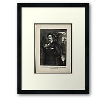 Satan tempting Booth to the murder of the President, [Magee Portrait of Booth]. Framed Print