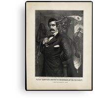Satan tempting Booth to the murder of the President, [Magee Portrait of Booth]. Metal Print