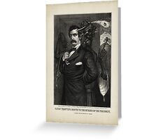 Satan tempting Booth to the murder of the President, [Magee Portrait of Booth]. Greeting Card
