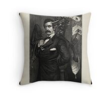 Satan tempting Booth to the murder of the President, [Magee Portrait of Booth]. Throw Pillow