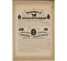 the Emancipation proclamation Photographic Print