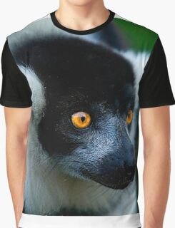 Black & White Lemur Graphic T-Shirt
