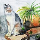 Peaceful Cat by Anita Wann