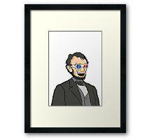 Lincoln. In 3D. Framed Print