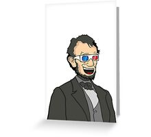Lincoln. In 3D. Greeting Card