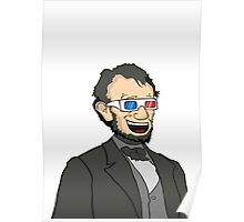 Lincoln. In 3D. Poster