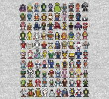 MS Paint Pixelated Cartoon Characters by inesbot