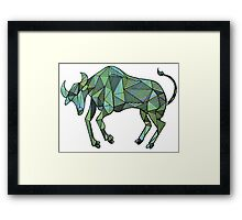 Geometric Taurus in Color  Framed Print