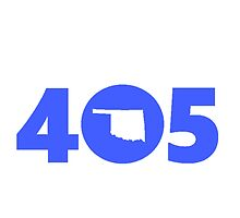 405 Oklahoma Proud Blue by 8thDesigns