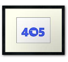 405 Oklahoma Proud Blue Framed Print