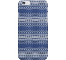 Faux Christmas Sweater - Blue iPhone Case/Skin
