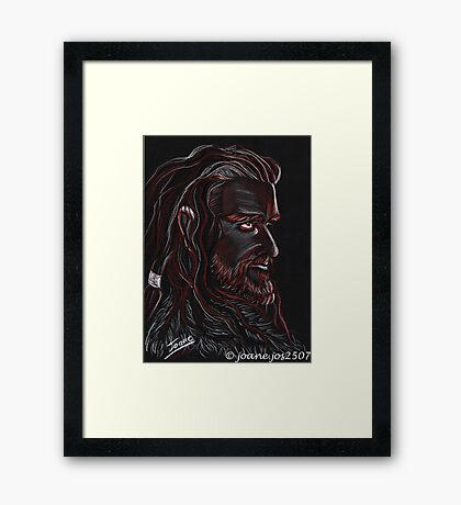 Thorin Oakenshield, Dark King Framed Print