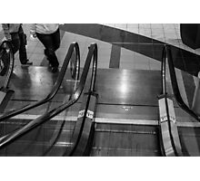 Escalator (black and white) Photographic Print