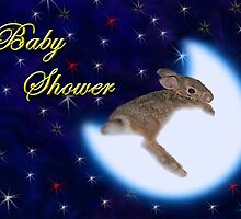 Baby Shower Bunny Rabbit by jkartlife