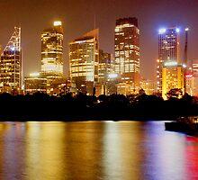 City Lights Skyline - Sydney, Australia. by Harry Roma