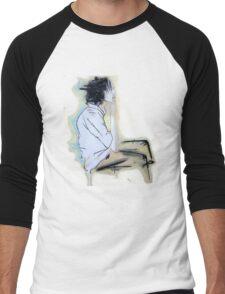 smoking adolescent Men's Baseball ¾ T-Shirt