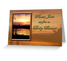 Please Join Us For A Baby Shower Pier Greeting Card