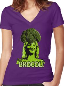 Jeff Brocoli Women's Fitted V-Neck T-Shirt
