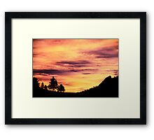 Red Rocks Sunset, Boulder Colorado Framed Print
