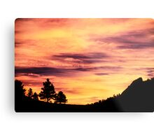 Red Rocks Sunset, Boulder Colorado Metal Print