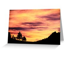 Red Rocks Sunset, Boulder Colorado Greeting Card