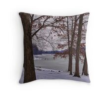 Keystone on a cold winter day Throw Pillow