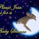 Please Join Us For A Baby Shower Bunny Rabbit by jkartlife