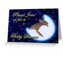 Please Join Us For A Baby Shower Bunny Rabbit Greeting Card