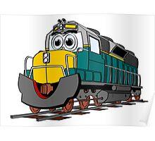 Tiel Train Engine Cartoon Poster