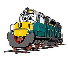 Tiel Train Engine Cartoon Photographic Print