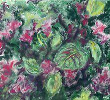 Jardin (pastel) by Niki Hilsabeck