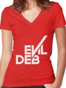 Evil Deb Women's Fitted V-Neck T-Shirt