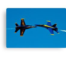 Blue Angels cross over Canvas Print