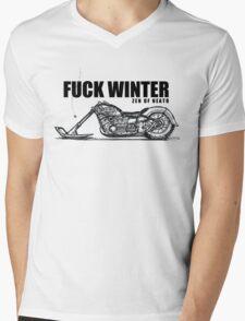 F#@K WINTER Mens V-Neck T-Shirt