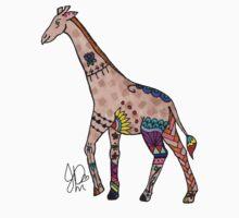 Giraffe in Sharpie  by JasmineMDeLeon