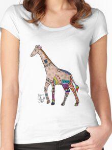 Giraffe in Sharpie  Women's Fitted Scoop T-Shirt