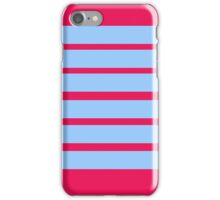 Blue and pink stripes. iPhone Case/Skin