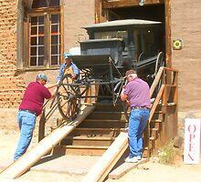 Pat Garrett's Hearse heads for museum by John Catsis