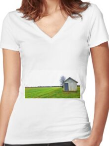 Lonely House Women's Fitted V-Neck T-Shirt