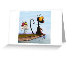 At the Edge of Reason! Greeting Card