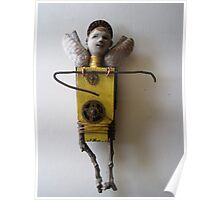 Sun Angel - assemblage altered art doll Poster