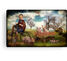 Bringing Home The Bacon Canvas Print