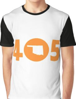 405 Oklahoma Proud Orange Graphic T-Shirt