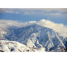 Salt Lake City - Wasatch Mountains Photographic Print