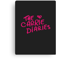 the carrie diaries. Canvas Print