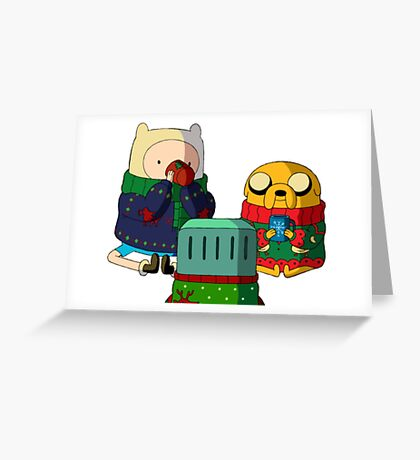 a christmas adventure Greeting Card