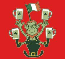 Leprechaun Juggling Beers and Irish Flag Kids Clothes