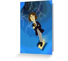 8th Doctor in the Time Vortex Greeting Card