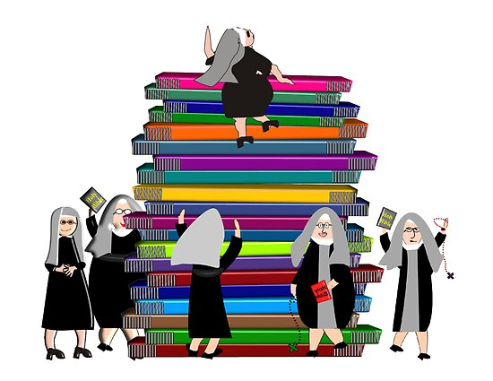 Catholic Nuns and Books by gailg1957